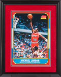Basketball Collectibles:Photos, 2000's Michael Jordan Signed Oversized Photograph of 1986-87 FleerRookie Card. ...