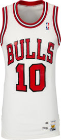 Basketball Collectibles:Uniforms, 1989 B.J. Armstrong Game Worn Chicago Bulls Jersey....