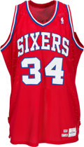 Basketball Collectibles:Uniforms, 1989-90 Charles Barkley Game Worn Philadelphia 76ers Jersey. ...