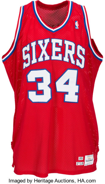 the latest 8c9f6 d9226 1989-90 Charles Barkley Game Worn Philadelphia 76ers Jersey ...
