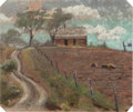 Works on Paper, Reveau Bassett (American, 1897-1981). Cotton Farm. Pastel on paper. 7-1/4 x 8-3/4 inches (18.4 x 22.2 cm) (sight). Signe...