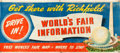 "Movie Posters:Miscellaneous, New York World's Fair by Richfield Oil (1939). Silk-Screen Banner(36""X 84"").. ..."