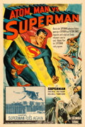 "Movie Posters:Serial, Atom Man vs. Superman (Columbia, 1950). One Sheet (27"" X 41"")Chapter 1 -- ""Superman Flies Again."". ..."