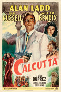 "Movie Posters:Film Noir, Calcutta (Paramount, 1946). One Sheet (27"" X 41"").. ..."