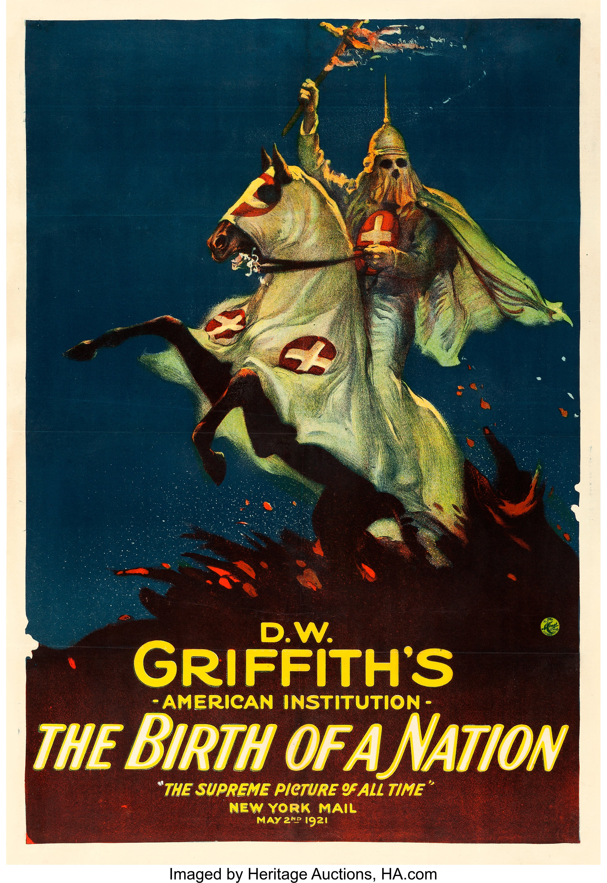 The Birth of a Nation (Epoch Producing Corp., R-1921). One Sheet ...