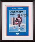 """Basketball Collectibles:Photos, 1980's Michael Jordan """"Partners in Excellence"""" Poster...."""