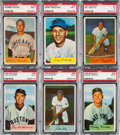 Baseball Cards:Sets, 1954 Bowman Baseball Near Set (221/224) With Ted Williams and 27 Extras. ...