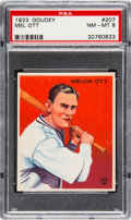 Baseball Cards:Singles (1930-1939), 1933 Goudey Mel Ott #207 PSA NM-MT 8 - Only One Higher. ...