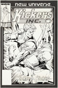 Original Comic Art:Covers, Scott Williams Kickers, Inc. #11 Cover Original Art (Marvel,1987)....