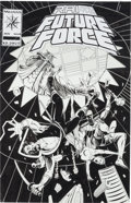 Original Comic Art:Covers, Sean Chen and Kathryn Bolinger Rai and the Future Force #10Cover Original Art (Valiant, 1993)....