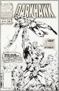 Original Comic Art:Covers, Aaron Lopresti and Ron Wilson Darkhawk Annual #2 CoverOriginal Art (Marvel, 1993)....