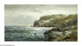 American:Hudson River School, WILLIAM TROST RICHARDS (American 1833-1905). RockyCoastline. Oil on panel. 12in. x 23in.. Signed lower left.Brian Ro...
