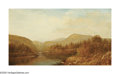 American:Hudson River School, CHARLES WILSON KNAPP (American 1823-1900). Autumn Landscape,1872. Oil on canvas. 18in. x 32.5in.. Signed with initials ...