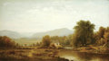 American:Hudson River School, CHARLES WILSON KNAPP (American 1823-1900). Landscape. Oil oncanvas. 24.25in. x 42.25in.. Signed lower left. ...