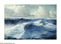 American:Marine, FREDERICK JUDD WAUGH (American 1861-1940). Waves at Sea. Oilon canvasboard. 21in. x 31in.. Signed lower right. ...
