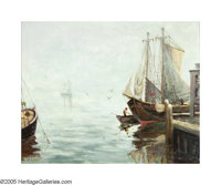 WILLIAM ALAN COUPER (American 1891-1972) Fishing Boats Oil on canvasboard 24in.x 30in. Signed lower left