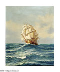 Paintings, GINO ROSSI (Italian 1884-1947). La Palazzola Sailing Off Malta, 1925. Oil on canvas. 20in. x 16in.. Signed lower right. ...
