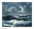 American:Marine, JOHN WISINSKI. Seascape, 1966Oil on canvasboard. Signedlower right. 30in. x 36in.. ...