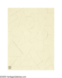 RUDOLF BAUER (German 1889-1953) Abstract Composition Pencil on paper 18.25in.x 11.75in. Estate stamp lower right