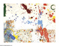 Post-War & Contemporary:Abstract Expressionism, SAM FRANCIS (American 1923-1994). Untitiled. Gouache and enamel onpaper. 17.5in.x 23in. Signed lower right. ...
