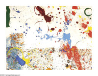 SAM FRANCIS (American 1923-1994) Untitiled Gouache and enamel on paper 17.5in.x 23in Signed lower right