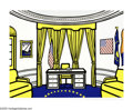 Paintings, ROY LICHTENSTEIN (American 1923-1997). Oval Office, 1992. Silkscreen on paper. 29.5in.x 39in.. Signed, dated and numbere... (Total: 1 Item Item)
