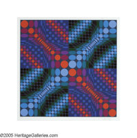 VICTOR VASARELY(American 1908- 1997) Circles Color Lithograph 24in.x 23.5in Signed lower right Edition: 266/275
