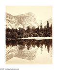 Photographs:19th Century, CARLETON WATKINS (American 1829-1916) . Mirror Lake, Yosemite,No. 75, circa 1865 . Albumen print . 21.5in. x 16in. . In...