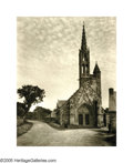 Photographs:20th Century, ELEANOR PARKE CUSTIS (American 1897-1983) . Untitled (GothicChurch), 1935 . Vintage bromide print . 16.5in. x12.5in. . ...