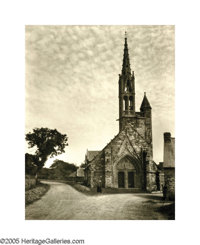 ELEANOR PARKE CUSTIS (American 1897-1983) Untitled (Gothic Church), 1935 Vintage bromide print 16.5in. x12.5in