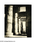 Photographs, ELEANOR PARKE CUSTIS (American 1897-1983) . Untitled (Karnak, Egypt), 1935 . Vintage bromide print . 15.75in. x13.25in. ...