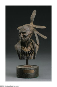 HARRY JACKSON (American b. 1924) Algonquin Chief Bronze 10.5in. tall Signed and numbered (30)