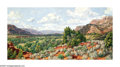Western:Contemporary, STAPLETON KEARNS (American b. 1952). Mid Day Drifting Clouds. Oil on canvas. Signed lower left. ...