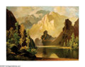 Paintings, A.D. GREER (American 1904-1988). Mountain Landscape. Oil on canvas. 30in. x 40in.. Signed lower left. ...