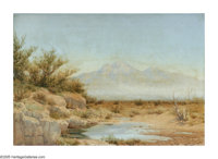 AUDLEY DEAN NICHOLS (American 1875-1941) The Water Hole, 1921 Oil on canvas 16.5in.x 24in. Signed lower left