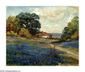 Paintings, ROBERT WILLIAM WOOD (American 1889-1979). House in Bluebonnet Field. Oil on canvas. 9in. x 11in.. Signed lower left: G. ...
