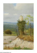 American:Western, PORFIRIO SALINAS (American 1910-1973). Blooming Yucca. Oilon canvas. 36in. x 24in.. Signed lower left. Brian Roughton...