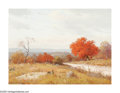 Paintings, PORFIRIO SALINAS (American 1910-1973). Autumn Hills, 1967. Oil on convas. 12in.x 16in.. Signed lower left. ...