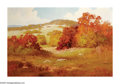 American:Impressionism, ROBERT WILLIAM WOOD (American 1889-1979). Texas Autumn. Oilon canvas. 20in. x 30in.. Signed lower right 'G Day' . Bri...