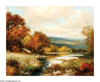 ROBERT WILLIAM WOOD (American 1889-1979) Guadalupe RiverOil on canvas 24in.x 30in. Signed lower right Inscribed with