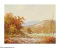 Paintings, ROBERT WILLIAM WOOD (American 1889-1879). Autumn Hills with Cactus. Oil on canvas. 12in. x 16in.. Signed 'G. Day' lower ...