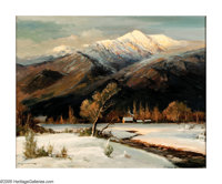 ROBERT WILLIAM WOOD (American 1889-1979) White Mountains Oil on canvas 24in. x 30in. Signed lower left