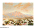 American:Impressionism, HERBERT SARTELLE (American 1885-1955). Desert Landscape. Oilon canvas. 30in.x 40in.. Signed lower right. ...