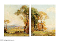American:Impressionism, FREDERICK BALLARD WILLIAMS (American 1871-1956). Landscapes (pair). Oil on board. 10in. x 8in.. Signed lower right. Insc...