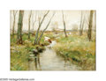 American:Impressionism, CHARLES PAUL GRUPPE (American 1860-1940). The Edge of theWoods. Watercolor on board. 19.25in. x 27.25in.. Signed lower...