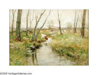 CHARLES PAUL GRUPPE (American 1860-1940) The Edge of the Woods Watercolor on board 19.25in. x 27.25in. Signed lower