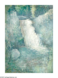 American:Impressionism, EDMUND GREACEN (American 1877-1949). Waterfall, Clinton, NJ.Oil on canvas. 36in. x 26in.. Provenance: Meredith Long and...