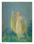Paintings, CHARLES COURTNEY CURRAN (American 1861-1942). Sunshine and Rain, 1930. Oil on canvas. 40in. x 30in.. Signed, titled and ...