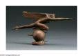 Bronze:American, HARRIET WHITNEY FRISHMUTH (American 1880-1980). Speed, 1921.Bronze, Unfinished Cast. 8in.. Inscribed on base: Harriet W...