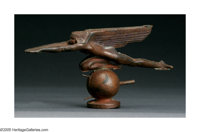 HARRIET WHITNEY FRISHMUTH (American 1880-1980) Speed, 1921 Bronze, Unfinished Cast 8in. Inscribed on base: Harriet W